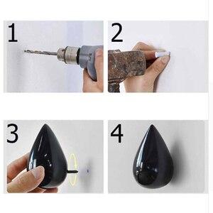 Image 4 - 1 Pcs Wood Wall Hanger Water Drop Shaped Hook Door Back Hanger Key Holder Decorative Hooks Bag Handbag Hat Clothes Wooden Hook