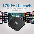 REINO UNIDO DE Francés italiano TX3 Canal IPTV Box Sky Sport 1 Año envío 1400 Canales de IPTV Árabe Set Top Box Kodi Arabox Europea cargado