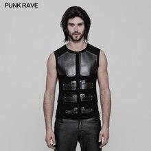 ขายใหญ่! 56 USD 29 USD Punk Raveผอมแขนกุดผู้ชายCasual Vest WT515