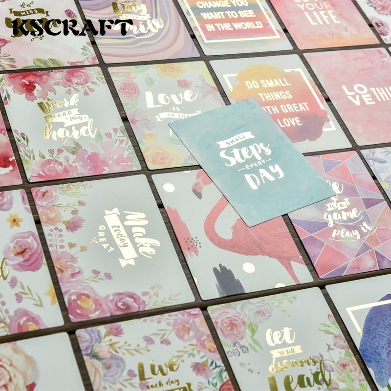 KSCRAFT 25Pcs Acid Free Colorful Paper Pocket Cards for Scrapbooking DIY Prosjekter / Photo Album / Card Making Crafts