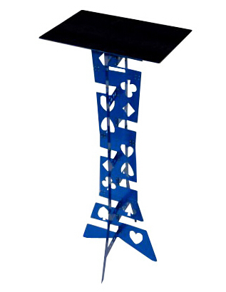 Alluminum Alliage Magique Table Pliante Bleu couleur, meilleure table de Magicien Magie Astuces en Scène Illusions Accessoires Facile à être porté