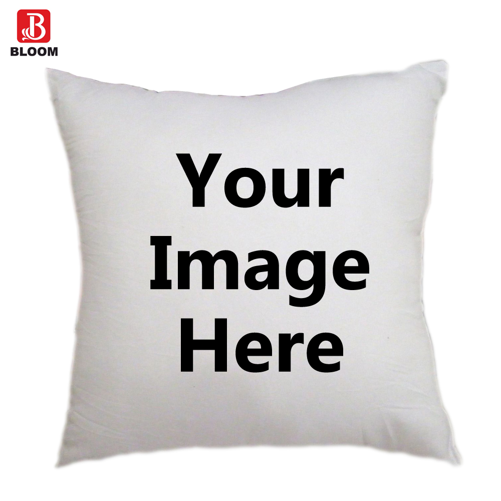 DIY изображения Photo Print Подушки Детские чехол, одна сторона фото, индивидуальные Чехлы для подушек, дом декоративные, квадратный Пледы Подушки...