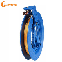 18cm Kite Reel Winder Fire Wheel 200M String Flying Handle Tool Twisted Line Outdoor Round Blue Grip for Accessories