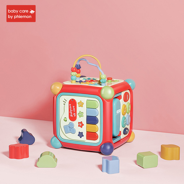Babycare Baby Activity Box Toddler Multifunctional Musical Toy Magic Cube Clock Geometric Blocks Sorting Educational ToysLearning & Education