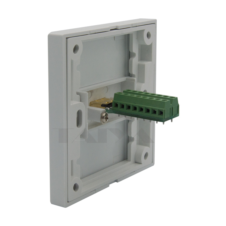 HDMI Wall Plate With 2 Raws Back Side Screw Connectors