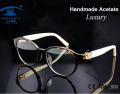 High Quality Brand Designer Eyewear Frames Women Luxury occhiali Prescription Glasses Frame in Clear Lens Rx Optical Frame Woman