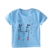 Летние детские топы, повседневные футболки с рисунком для маленьких мальчиков, хлопковая футболка для маленьких девочек, милая детская футболка с короткими рукавами для 5 лет