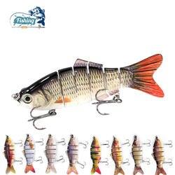 1 шт. Рыбалка приманки Multi жесткое соединение 10 см 19,3 г реалистичные совместное воблеры 6 сегментов Рыболовная Приманка Crankbait