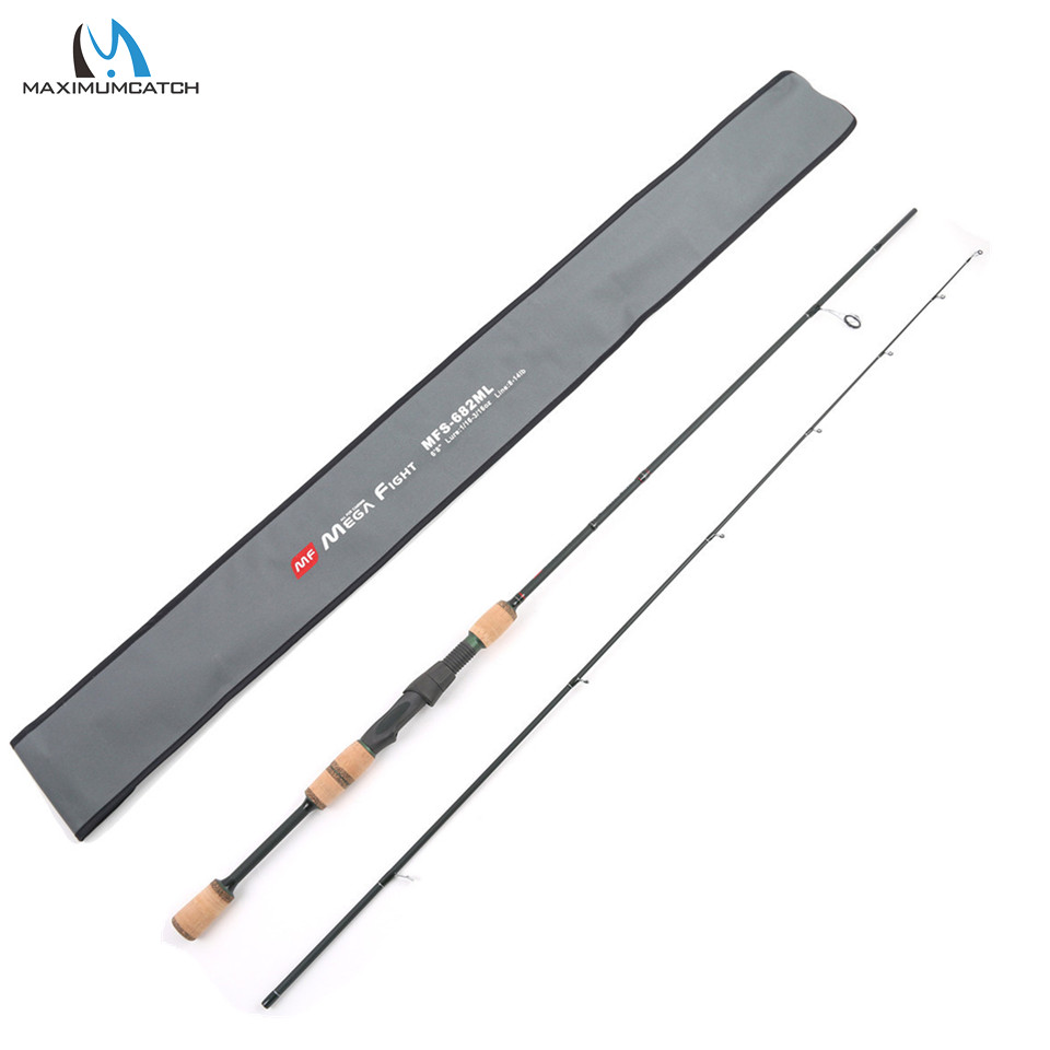 Maximumcatch 6'8'' 1/16-3/16oz Spinning Fishing Rod 8-14lb Portable Graphite Spinning Fishing Rod 2pcs Light Power коммутатор zyxel gs1100 16 gs1100 16 eu0101f