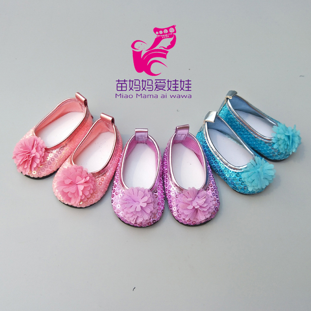 8dff0f3999fac Fit 43 cm newborn Baby Doll pink single Shoes Suitable For 18 inch girls  Doll Toy Boots Doll Accessories