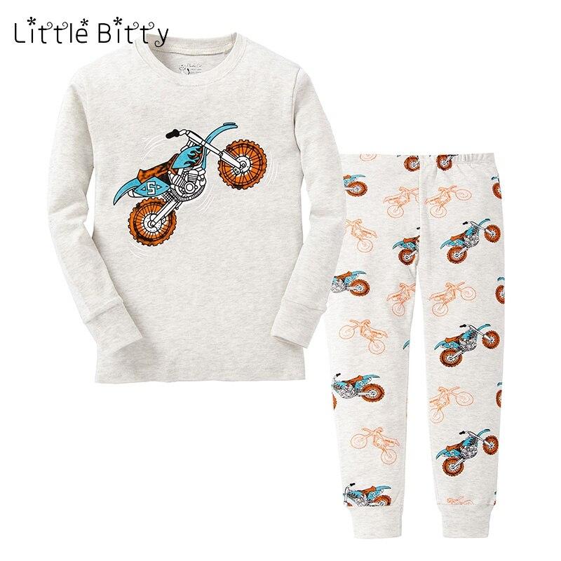 100 Baumwolle Jungen Motorrad Pyjamas Sets Kinder Pyjamas Für 2-8years Kinder Auto Druck Pijamas Motor Nachtwäsche Jungen Kleidung Einen Effekt In Richtung Klare Sicht Erzeugen