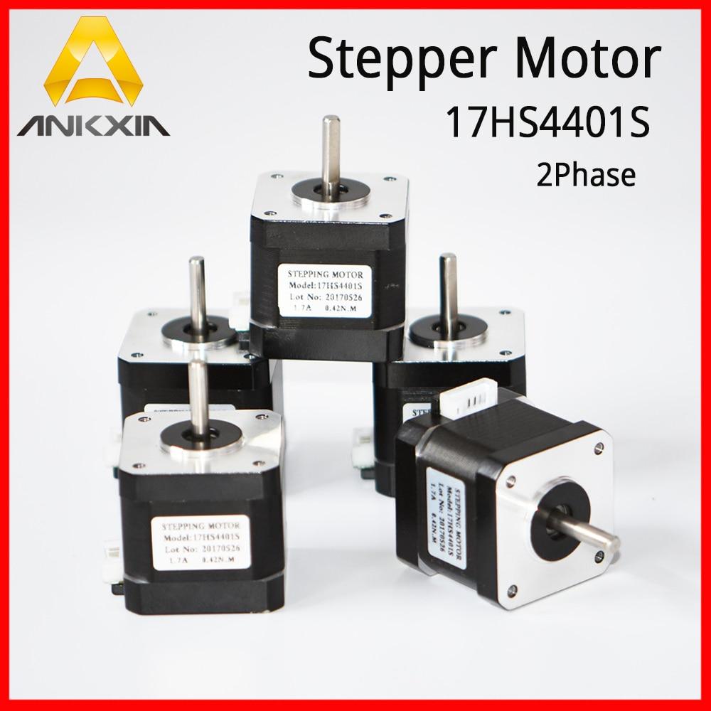 цена на 5Pcs Series 42 Stepper Motor Stepping Motor 17HS4401S/17HS4401 40mm 1.7A 1.8 Degree Nema 2 Phase For 3D Printer CNC Cutter