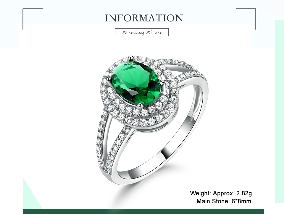 UMCHO-Emerald -sterling-silver-rings-for-women-RUJ097E-1-pc (2)