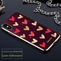 KINGXBAR For IPhone X Case Crystals From SWAROVSKI Hyacinth 236 Plated PC Cute Luxury Diamond Case