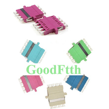 Fiber Adapter Adaptor Coupler LC-LC Quad with top Windows GoodFtth 100pcs/lot