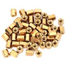 50Pcs M3*6mm Brass Spacers Hex Nut Spacing Screw Brass Threaded Pillar PCB Computer PC  Motherboard Standoff Spacer Kit clos 25mm body length 20 pcs screw pcb stand off spacer hex m3 male x m3 female brass hex spacers screw nut promotion wholesale