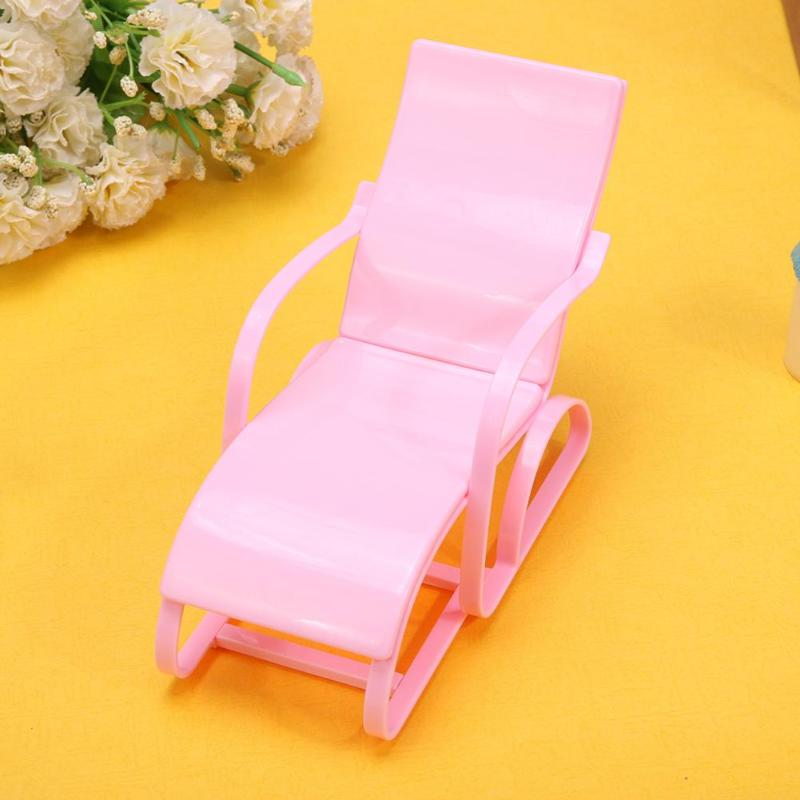 1pc Rocking Beach Lounge Chair for Barbie Doll Pink Chairs Dream ...