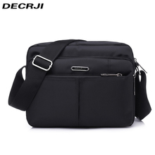 DECRJI 2020 Fashion Men Nylon Messenger Bag Waterproof Style Male Shoulder Crossbody Bags Designer High Quality Bolsa Masculina