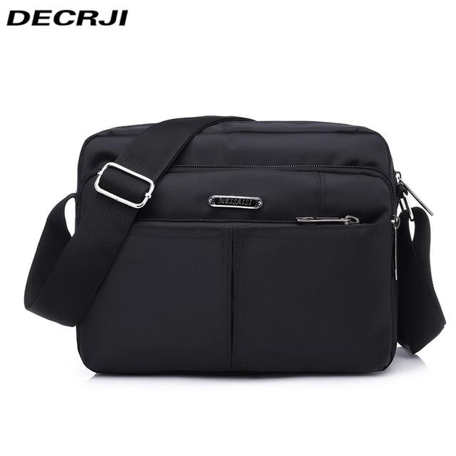 DECRJI 2020 Fashion Men Nylon Messenger Bag Waterproof Style Male Shoulder Crossbody Bags Designer High Quality Bolsa Masculina