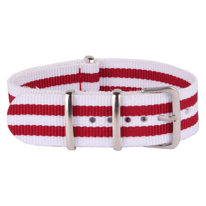 Cambo оптовая продажа 20 мм полоса красный белый натовский тканый волоконный ремешок 20 мм нейлоновые ремешки для часов наручные часы ремешок П...