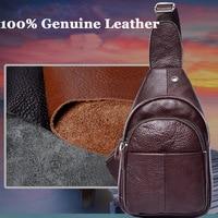 New Designer Genuine Leather Real Cowhide Retro Men Messenger Shoulder Cross Body Bag Triangle Travel Trend