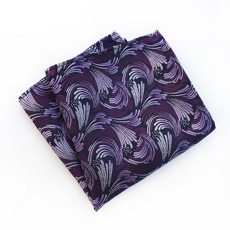 Brand Handkerchief Floral Printed Small Pocket Towel Mens Pocket Square For Wedding Banquet Hankies For Men