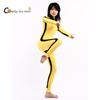 Kongfu suit Dragon Lee cosplay New Zentai Suit Yellow Lycra Spandex Unisex Bodysuit For Halloween Customize for adults and kids