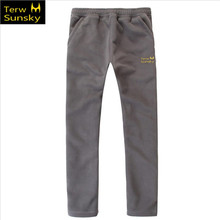Free Shipping-HOT SALE New Terwsunsky Men Outdoor Autumn/Winter Thickening Fleece Pants Sports Trousers TK01