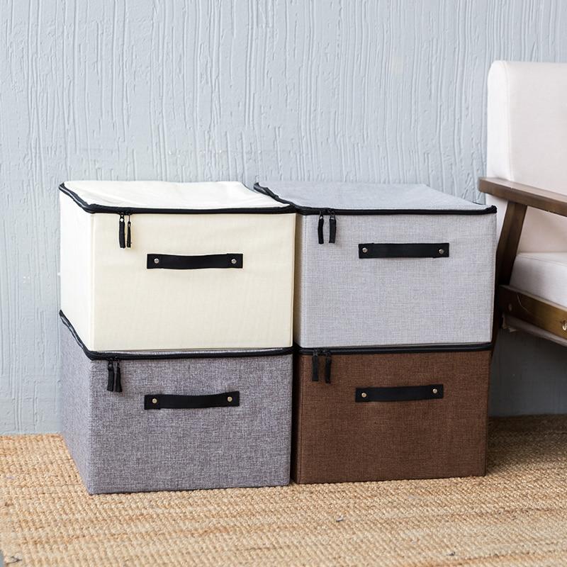 Lavable Vêtements Boîte De Rangement Couvert Tissu Finition Boîte Grand Couette Jouet Boîte De Rangement Sac