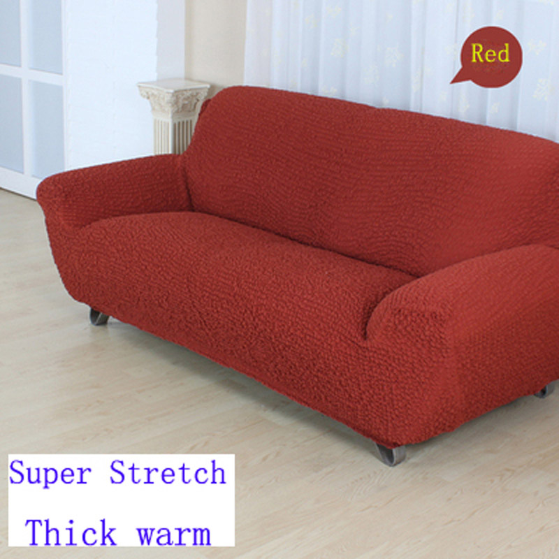 US $86.2 |Stretch slipcover sofa cover couch Green cover full cover all  inclusive non slip sofa sets red colour sofa covers cushion-in Sofa Cover  from ...