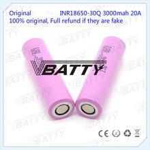 Ban đầu cho Samsung 18650 Thông Số Kỹ Thuật Pin 3000 mAh 18650 30Q 3.7 V Pin Sạc Lithium Ion (1 PC)