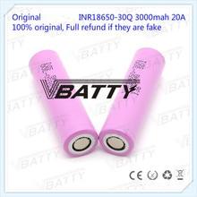Original para Samsung 18650 especificaciones de la batería 3000mah 18650 30Q 3,7 v batería recargable de iones de litio (1 pc)