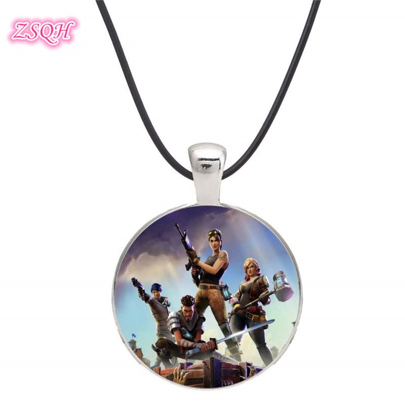 ZSQH fortress night Fortnight Llama Trailblazer Necklace Fortnited Battle Royale Cosplay prop Pendant Fashion Jewelry For Kids
