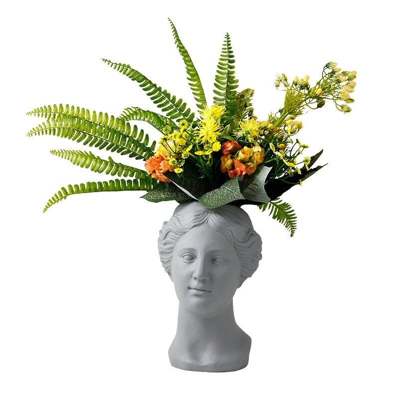 Character vase creative ceramic vase home decoration living room flower vase decoration ins simple decoration Venus flower vases in Vases from Home Garden