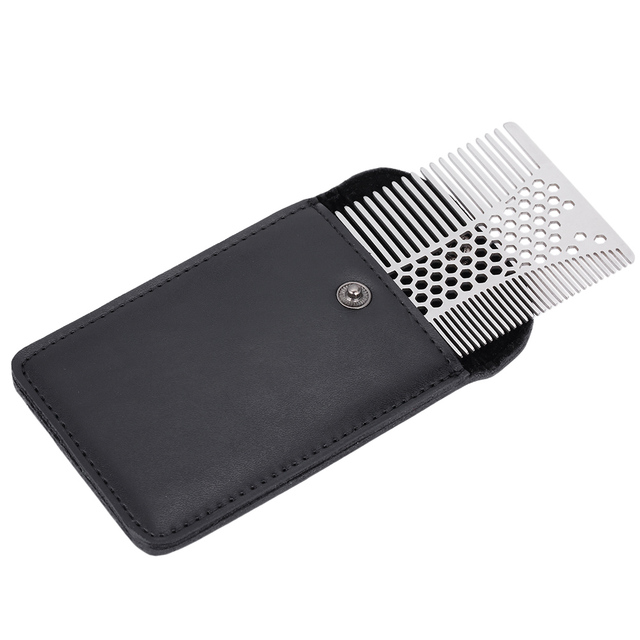 Men's Mustache Comb Stainless Steel Beard Comb Male Beard Shaving Brush Men Mini Mustache Pocket CombS Facial Hair Brush