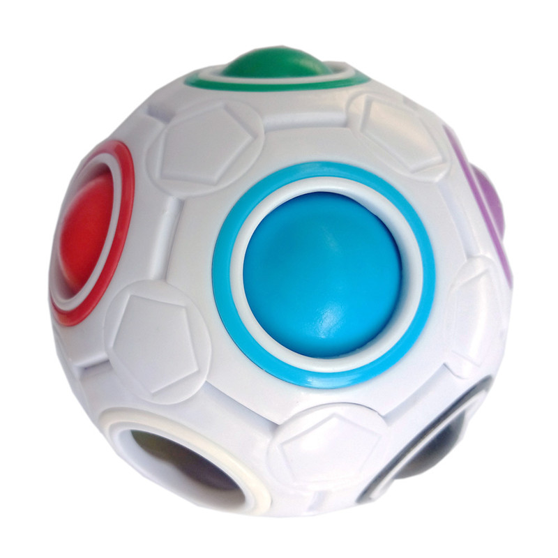 Creative Spheric Magic Rainbow Ball Plastic Magic Balls Puzzle Children Educational Learning Luminous Cube Toys For Children