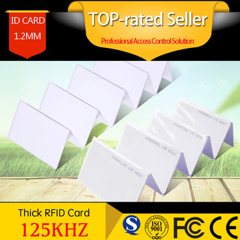 Proximity ID Smart Time Attendance Card RFID Card Tag 1.2mm Thin For Access Control System Door Control Entry Access EM card zk scr100 rfid card capacity tcp ip scr100 door access control rfid access control system