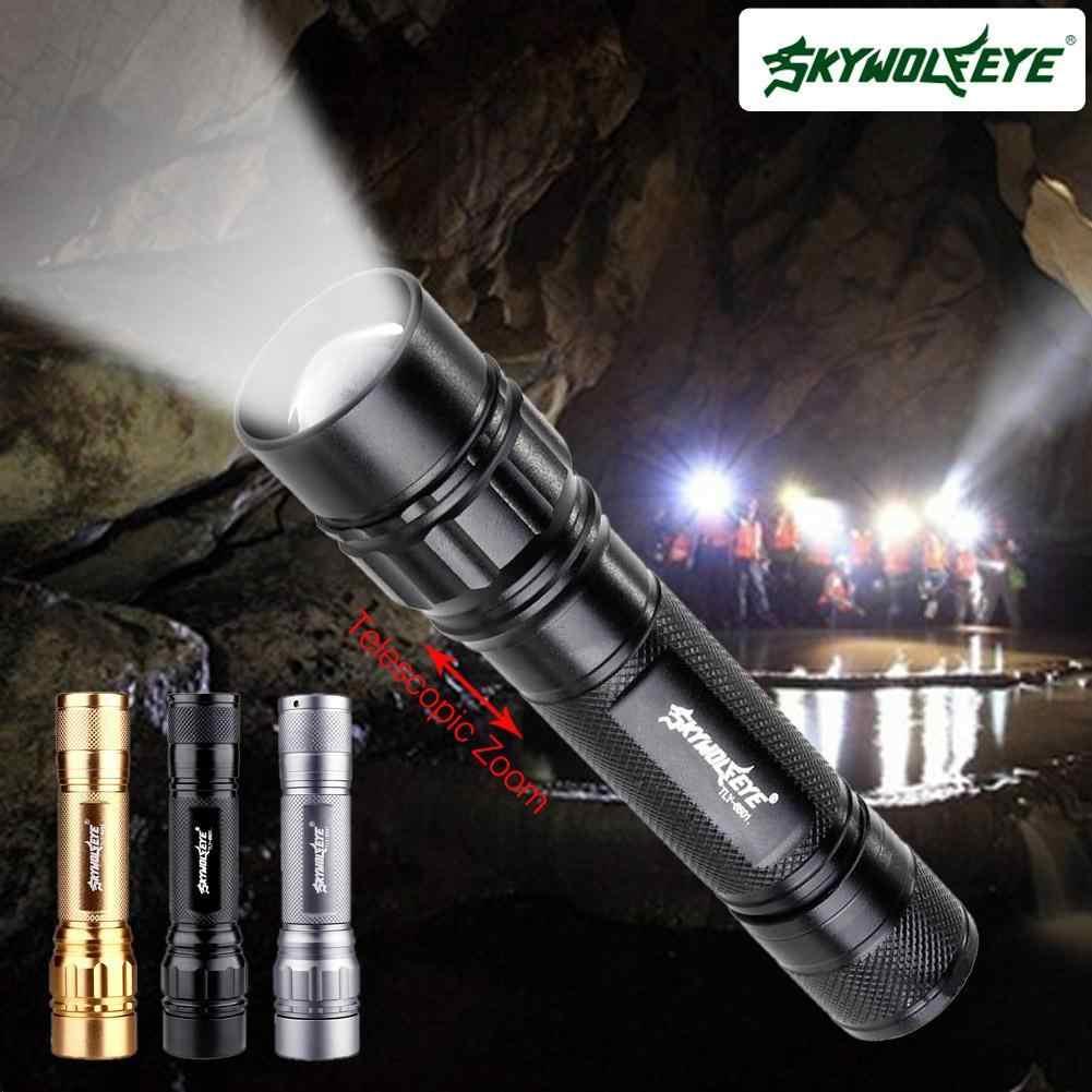 À prova d' água LED Lanterna Tocha Zoomable 3 Modos de 3500 LM com Q5 Alumínio Portátil para Camping Atividades Ao Ar Livre Durante a Noite