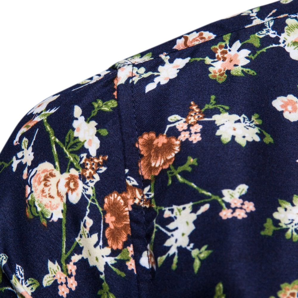 snowshine YLW Men's New Pattern Casual Fashion Lapel Printing Long Sleeved Shirt free shipping 3
