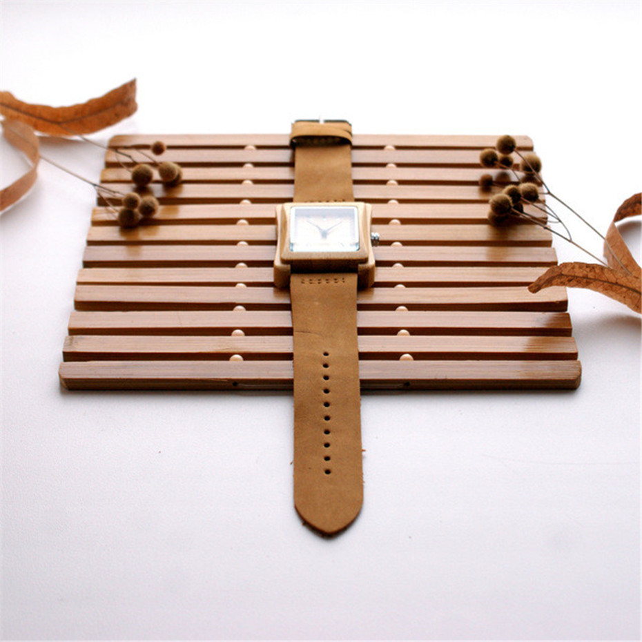 genuine leather band nature wood watch02