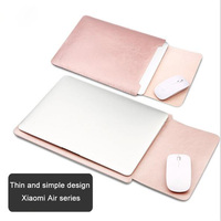 Waterproof 12 5 13 5 Inch Notebook Sleeve Crazy Horse Leather Laptop Bag Cover For Xiaomi