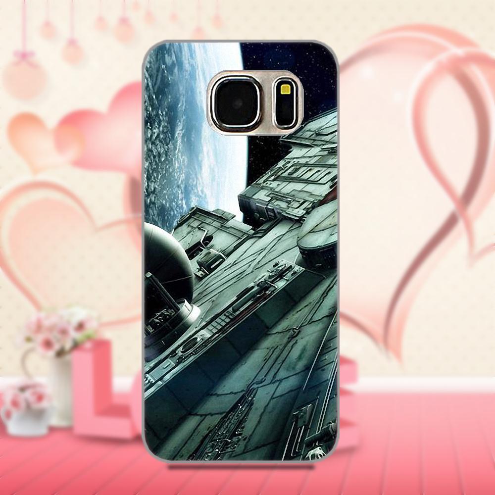 For Galaxy A3 A5 A7 J1 J3 J5 J7 2016 2017 S5 S6 S7 S8 S9 edge Plus Soft TPU Case Coque Cover Millenium Falcon Star Wars Nebula
