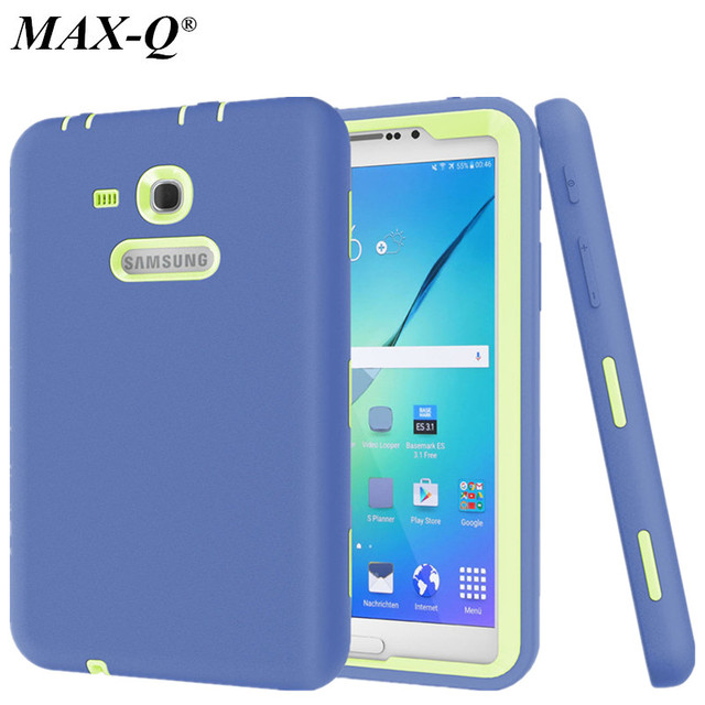 New Cover For Samsung Galaxy Tab 3 Lite 7.0 Case Kids Safe Heavy Duty Shockproof Silicone Case For SM-T110 SM-T111 SM-T113/ T116