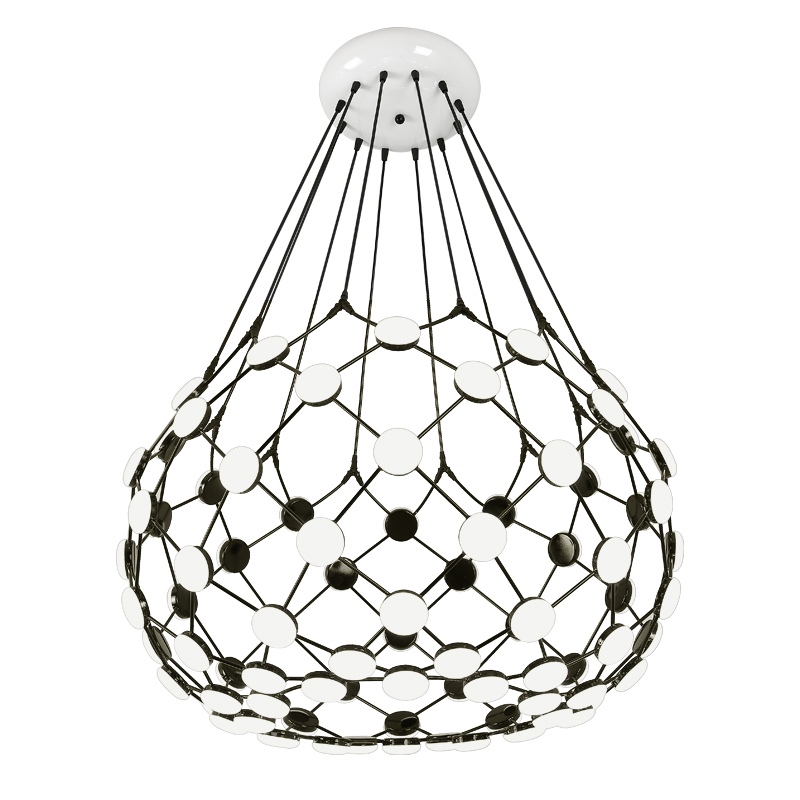 Moderne noir blanc pièces d'échecs pendentif lumière globe terre créative suspension lampe lampara droplamp moderne droplight blanc