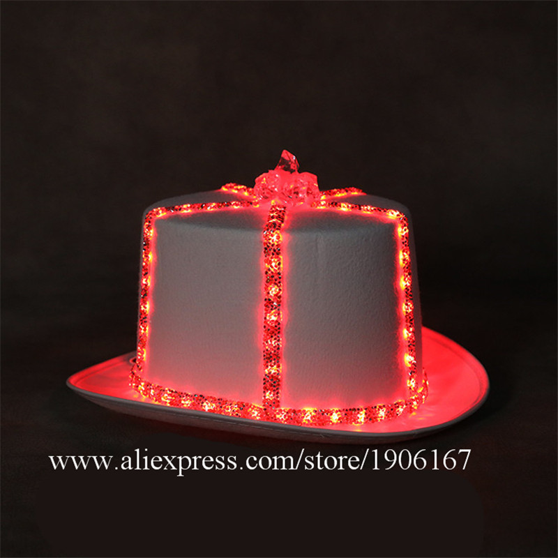 Led light hat music festival nightclub bar light stage props birthday gift08