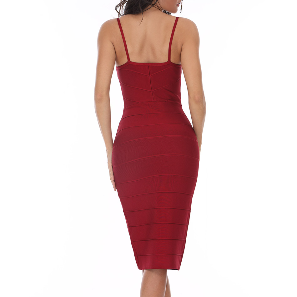 Seamyla Neue Frauen Bodycon Bandage Kleider Sexy Vestidos 2019 - Damenbekleidung - Foto 2