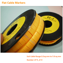 PVC Flat Cable Markers 0 9 A Z Suit for 3 5 to 7 0mm round
