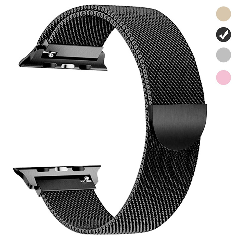 e388f96df Details about Loop for Apple watch band strap 4 3 iWatch watch with stainless  steel bracelet