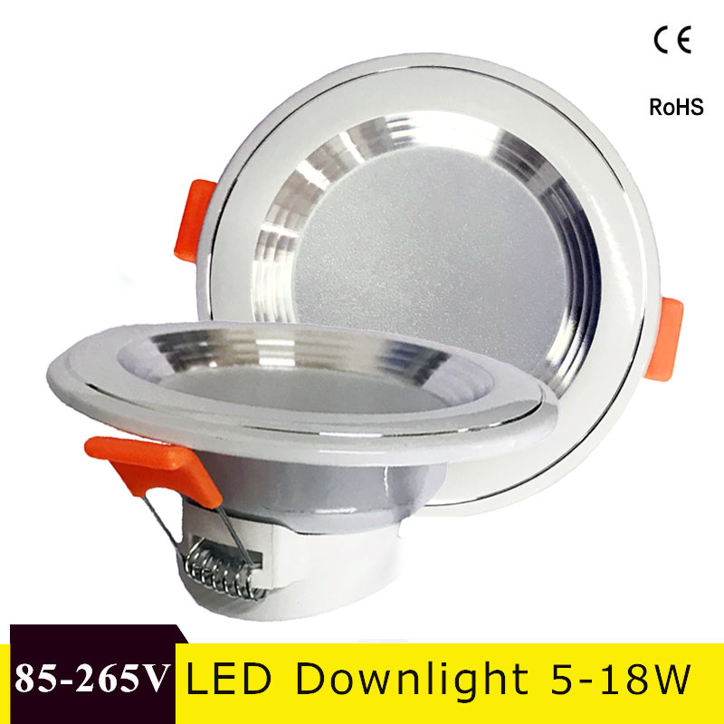LED Downlight 220V 230V 240V Round Recessed Lamp 3W 5W 9W 12W 15W 18W Led Bulb Bedroom Kitchen Indoor LED Spot Lighting t sunrise 3w aluminum home kitchen led under cabinet lighting 3 led spot light round lamp bulb brand driver included