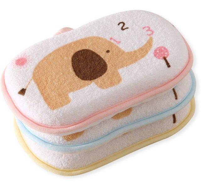 Высококачественная Экологичная супер мягкая детская губка для ванны, детская Мочалка для ванны, прекрасный слон, губка для ванны eponge bebe